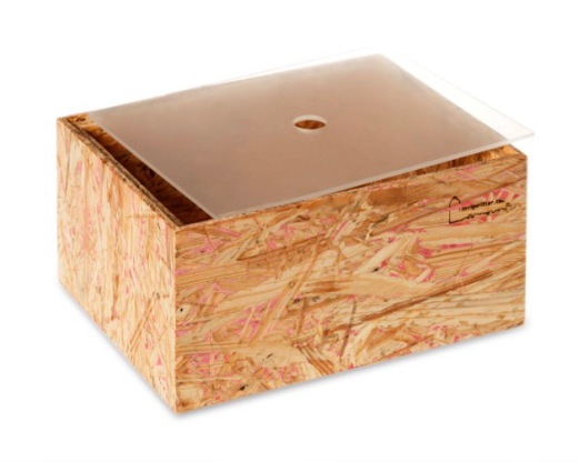 OSB wood box with cover
